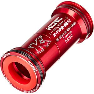 KCNC BB92 Press Fit Adaptador, rojo rojo