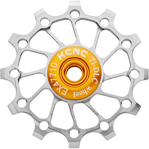 KCNC Jockey Wheel Titan 12 Zähne Narrow Wide Vollkeramisches Lager silver silver