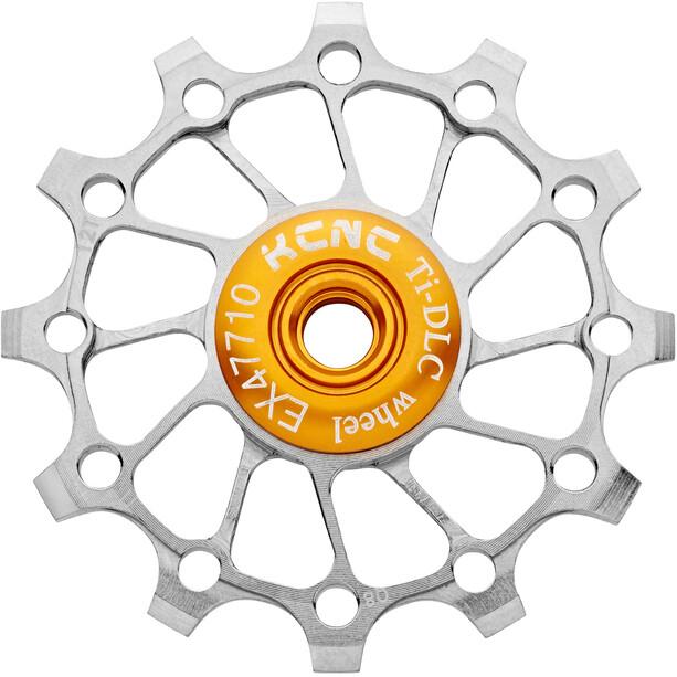 KCNC Jockey Wheel Titan 12 Zähne Narrow Wide Vollkeramisches Lager silver