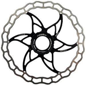 NOW8 Centerlight Rotor de frein à disque avec anneau de blocage, noir/argent noir/argent