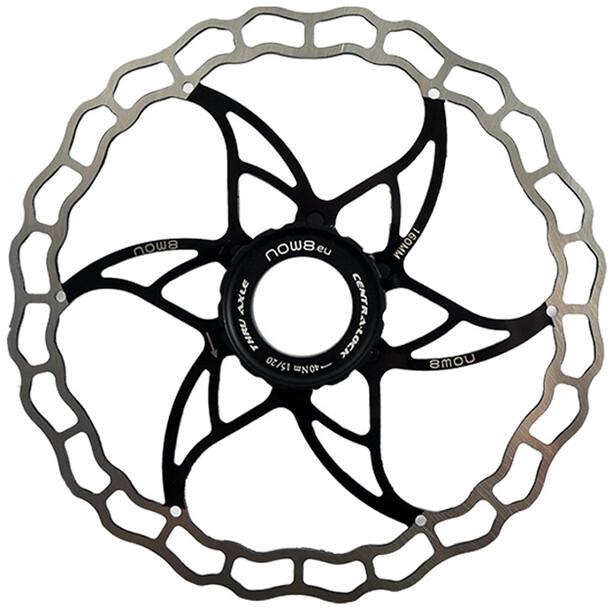 NOW8 Centerlight Bremsscheibe with Lockring black