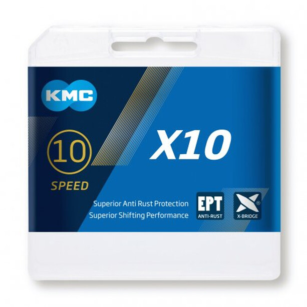 KMC X10 EPT Bicycle Chain 10-växlad silver