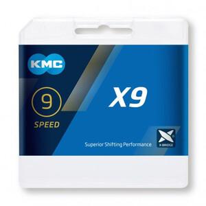 KMC X9 Chaîne de vélo 9 vitesses, gris gris
