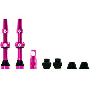Muc-Off MTB & Road Kit de valves Tubeless 44mm, rose rose