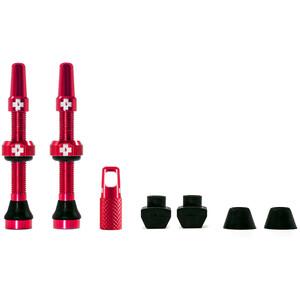 Muc-Off MTB & Road Kit de valves Tubeless 44mm, rouge rouge