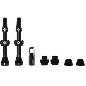 Muc-Off MTB & Road Tubeless Ventil Set 60mm schwarz schwarz