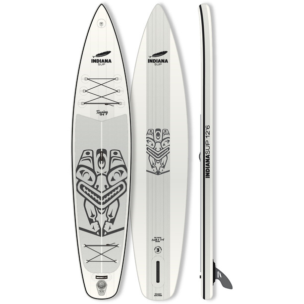 Indiana SUP 12'6 Touring Inflatable Sup white/grey