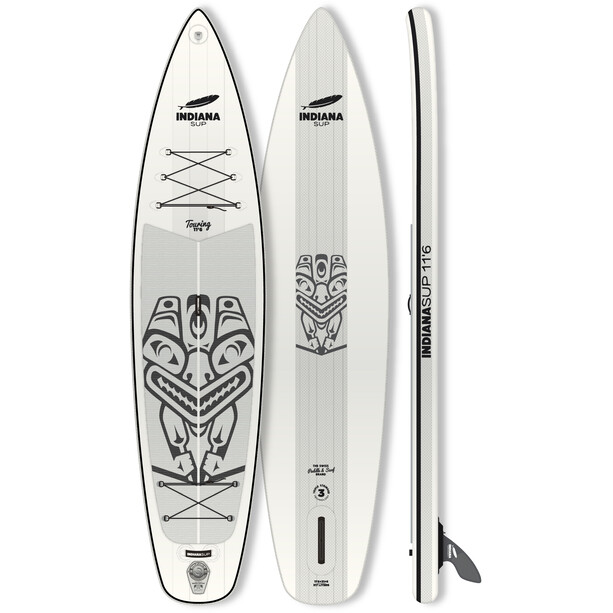 Indiana SUP 11'6 Touring Inflatable Sup white/grey