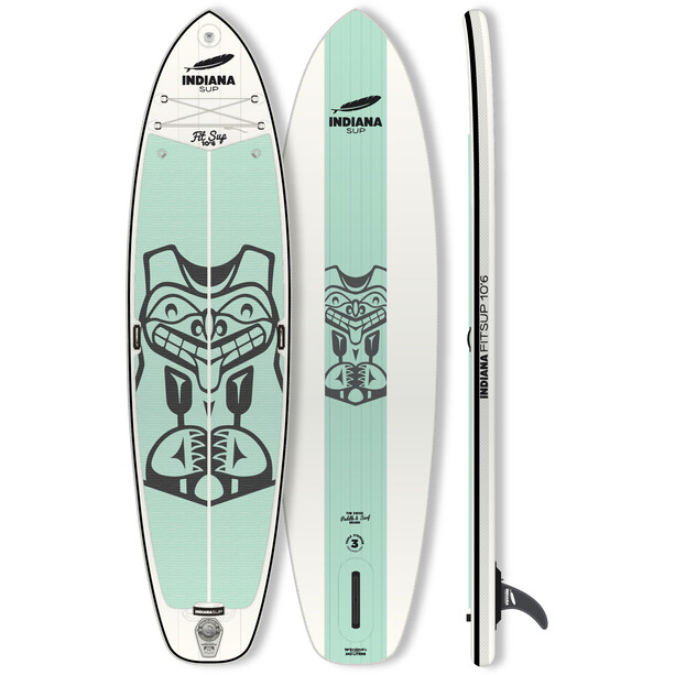 Indiana SUP 10'6 Fit Inflatable Sup white/green