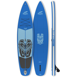 Indiana SUP 11'6 Family Pack Inflatable Sup with 3-Piece Fibre/Composite Paddle blue blue