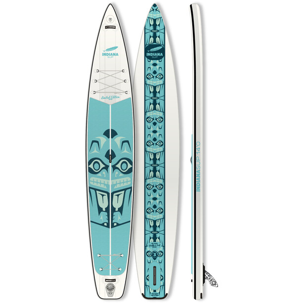 Indiana SUP 14'0 Touring LTD Inflatable Sup white/green