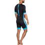 Dare2Tri Coldmax Combinaison de triathlon à manches courtes Homme, noir/bleu