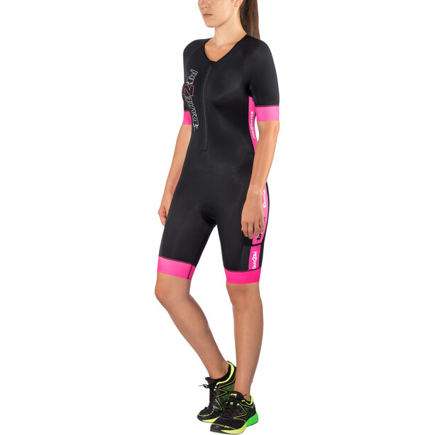 Dare2Tri Coldmax Kurzarm Trisuit Damen pink