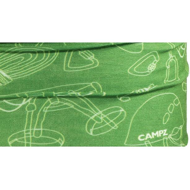 CAMPZ Neckgaiter green/white