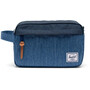Herschel Chapter Travel Kit faded denim/indigo denim