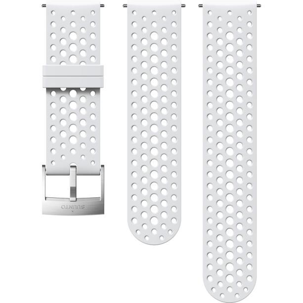 Suunto Athletic 1 Silicone Strap white/steel