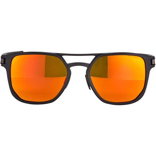 Oakley Latch Alpha Sonnenbrille Herren matte black/prizm ruby polarized