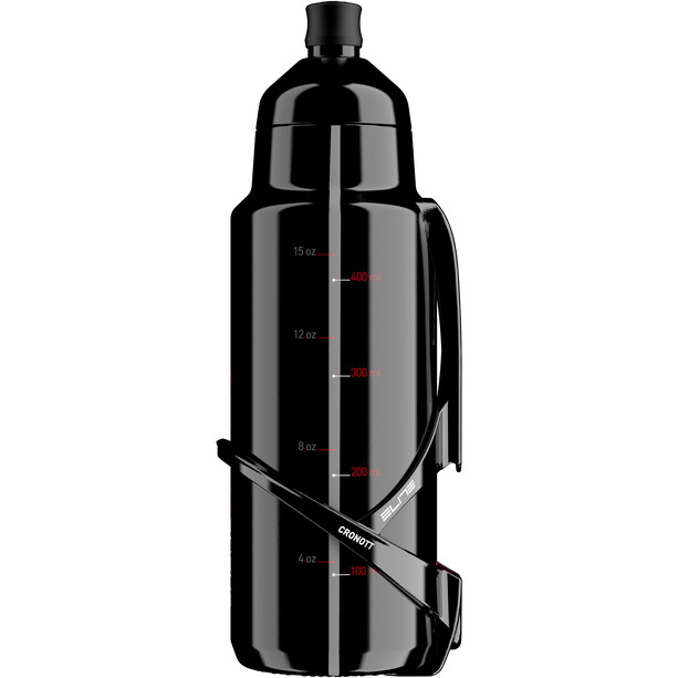 Elite Crono TT Drinking Bottle Kit mit Carbon Halter, 400ml black