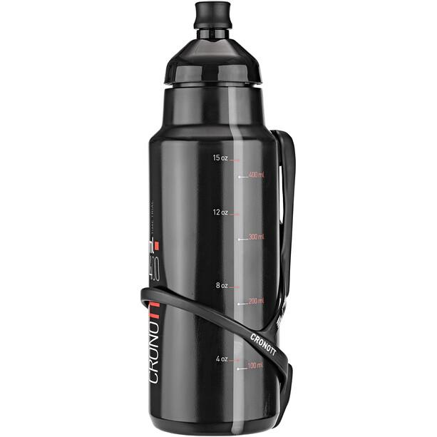 Elite Crono TT Système d'hydratation Avec Mount Carbone 400ml, black