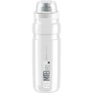 Elite Fly MTB Drinking Bottle 750ml clear/grey logo clear/grey logo
