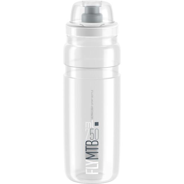 Elite Fly MTB Drinking Bottle 750ml clear/grey logo