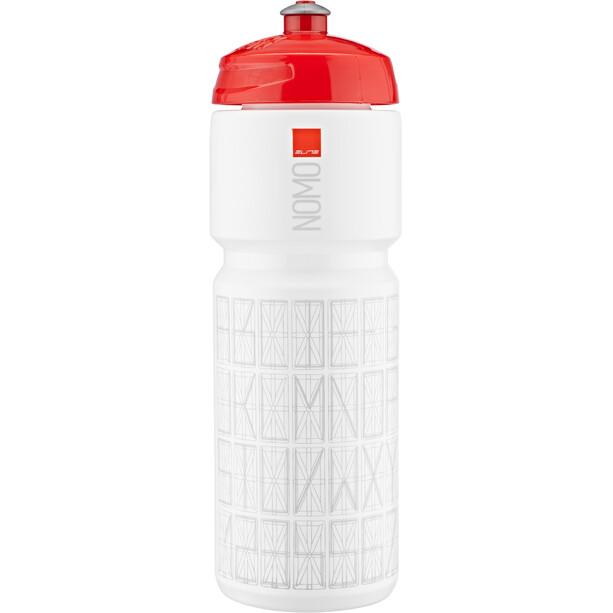 Elite Nomo Drikkeflaske 750ml rødt låg, hvid/rød