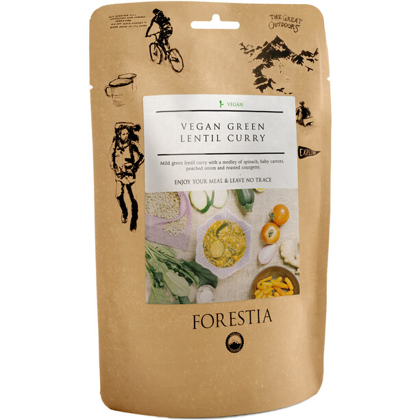 Forestia Outdoor Mahlzeit Vegan 350g Veganes grünes Linsen-Curry