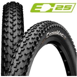 """Continental Cross King Performance Clincher Tyre 27.5x2.2"""" E-25 svart svart"""