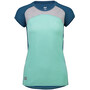 Mons Royale Bella Tech Tee Dam oily blue/peppermint/grey marl