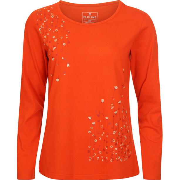 Elkline Dots Langarm-Shirt Damen darkorange
