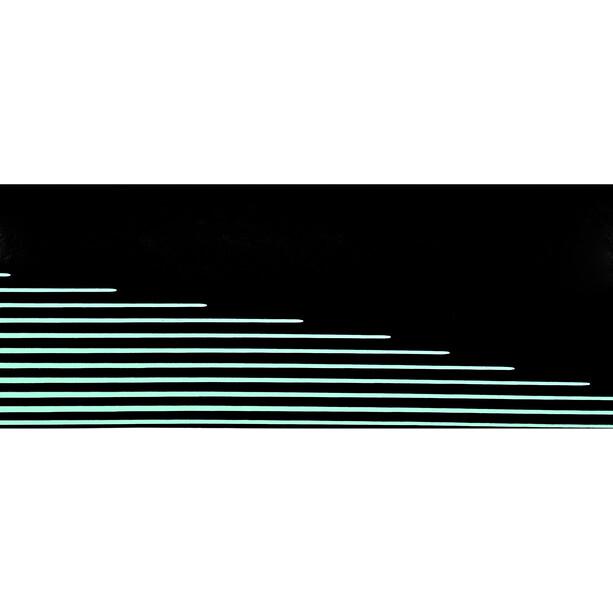 Fizik Vento Microtex Tacky Rubans de cintre 2mm, noir/Bleu pétrole