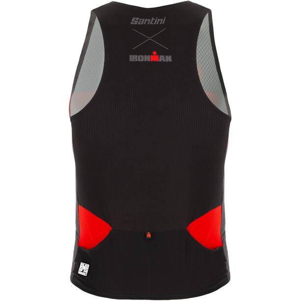 Santini Audax Aero Ärmelloses Triathlon Top Herren red
