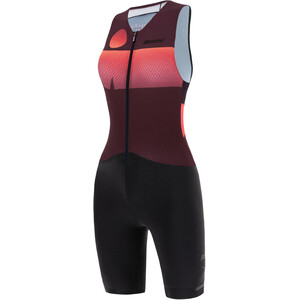Santini Audax Aero Hihaton Triathlon-puku Naiset, punainen/musta punainen/musta
