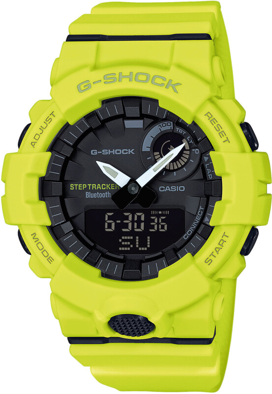 CASIO G-SHOCK GBA-800-9AER Smartwatch Men yellow/yellow/black Fitness Armbänder  GBA-800-9AER