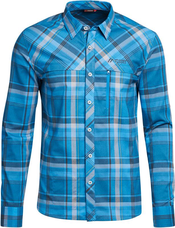 Maier Sports Merton LS Shirt Herren blue Sportshirts DE 60 | 3XL 147814-3574-60