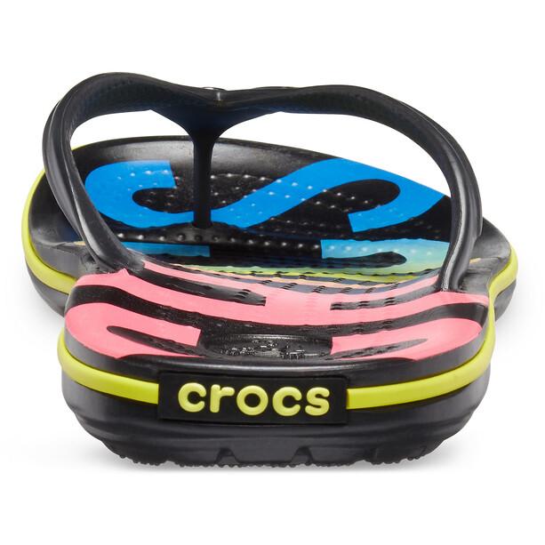 Crocs Crocband Printed Flips black/multi