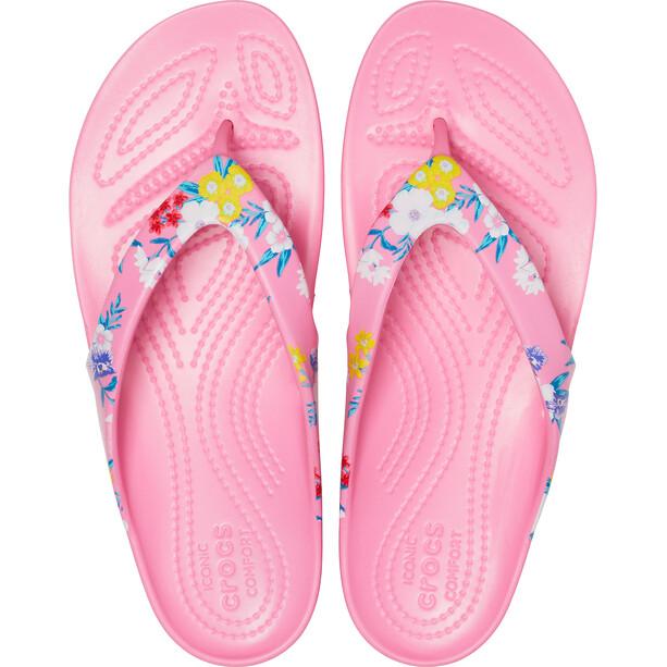 Crocs Kadee II Printed Flips Damen tropical floral/pink lemonade tropical floral/pink lemonade