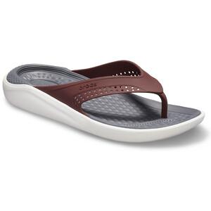Crocs LiteRide Flache Sandalen burgundy/white burgundy/white
