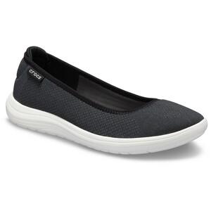 Crocs Reviva Flat Sandalen Damen black/white black/white