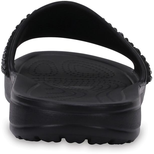 Crocs Sloane Embellished Slides Damen black/black