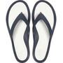 Crocs Swiftwater Flache Sandalen Damen blau/weiß