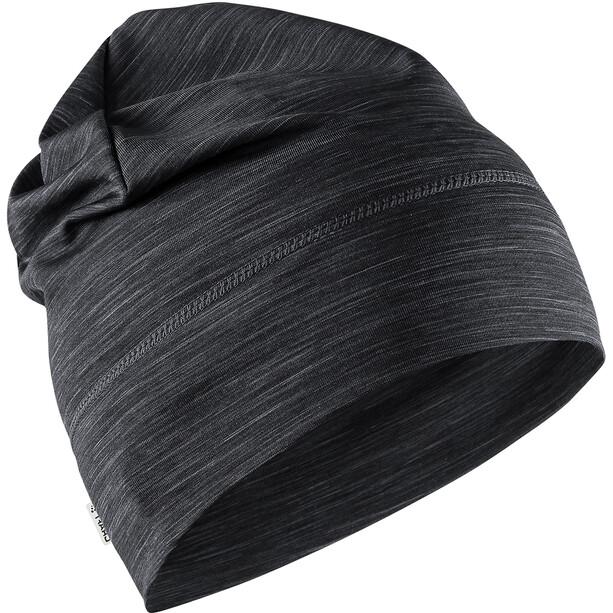 Craft Melange Jersey High Mütze black melange