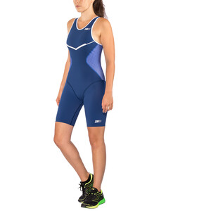 Z3R0D Racer Trisuit Women dark blue/white dark blue/white
