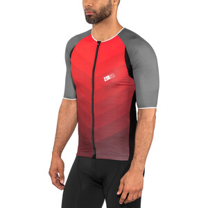 Z3R0D Racer Time Trial Trisinglet Herren grey/red grey/red