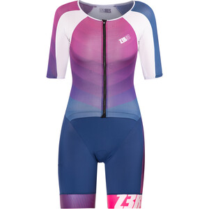 Z3R0D Racer Time Trial Trisuit Women dark blue/pink dark blue/pink