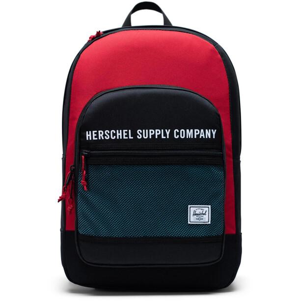 Herschel Kaine Rucksack 30l black/red/bachelor button