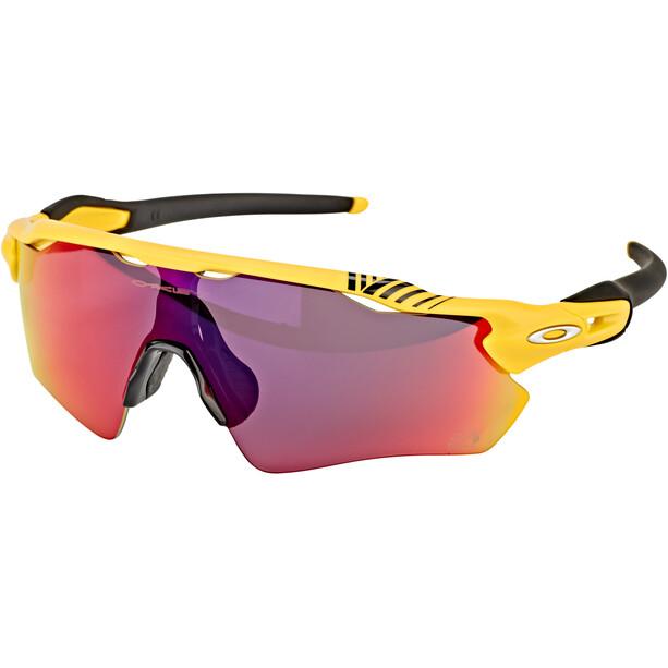 Oakley Radar EV Path Sonnenbrille Tour de France 2019 matte yellow/prizm road