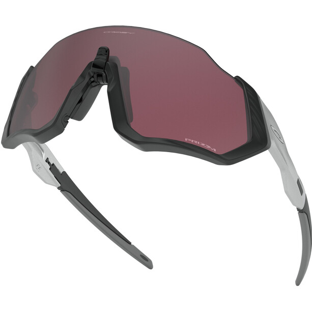 Oakley Flight Jacket Sonnenbrille matte black/prizm road black
