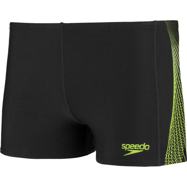 speedo Placement Wassershorts Herren black/bright zest/oxid grey
