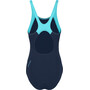speedo Boom Splice Muscleback Badeanzug Damen navy/aquasplash